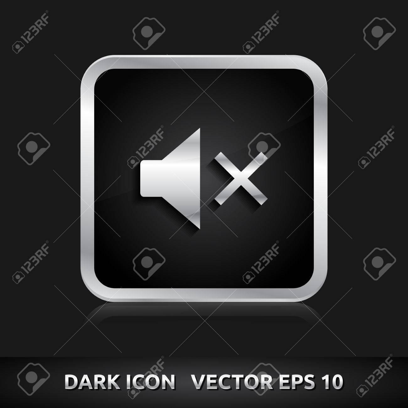 Uberlegen Standard Bild   Ton Aus Stummschaltungssymbol | Farbe Dunkel Schwarz Silber  Metall Grau Weiß