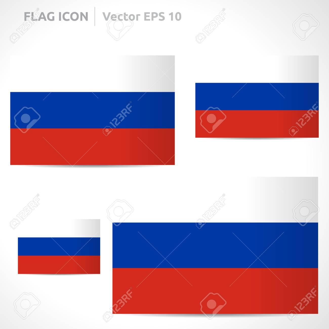 Russia Flag Template Symbol Design Royalty Free Cliparts Vectors