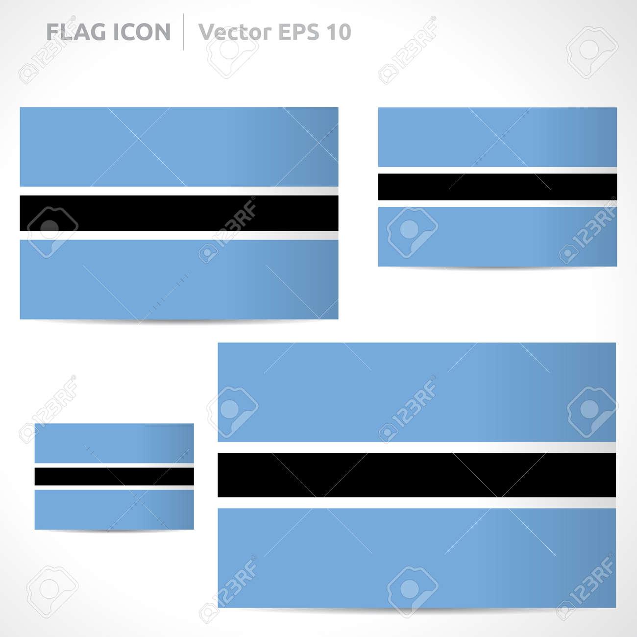 Botswana flag template