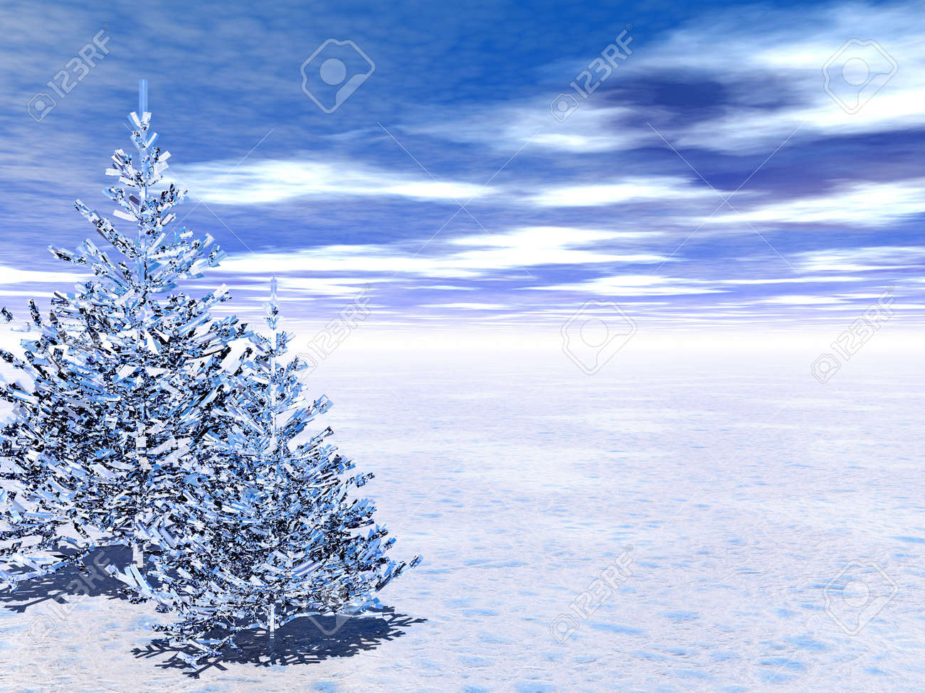 More similar stock images of 3d landscape with fall tree - Winter Unreal Pine Trees 3d Scene More In My Portfolio Stock Photo