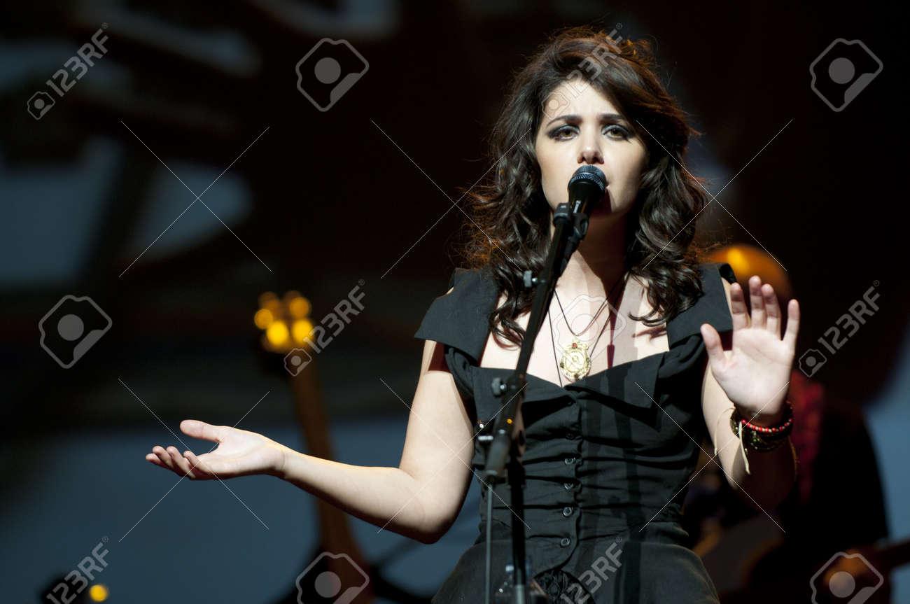 Katie Melua at Birmingham Symphony Hall in Birmingham on 27 April 2011  Stock Photo - 10404976
