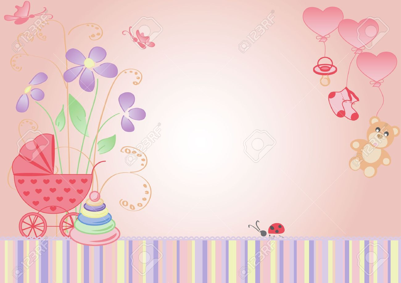 children background the message is girl royalty free cliparts