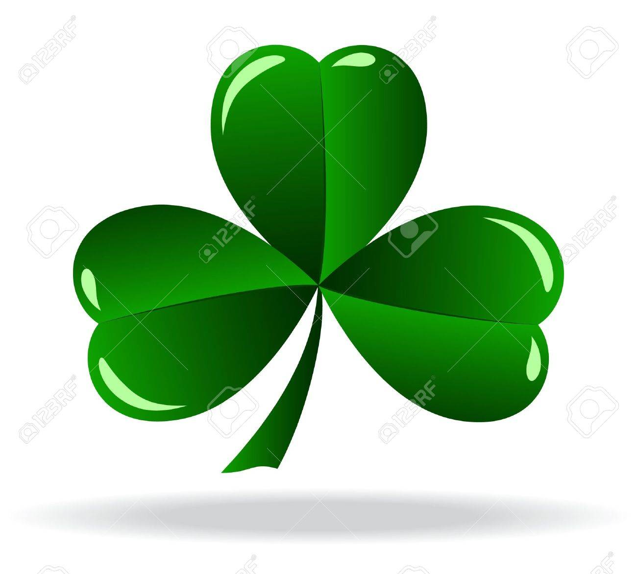 green shamrock as a symbol of st patricks day isolated on white rh 123rf com shamrock vector image shamrock vector art