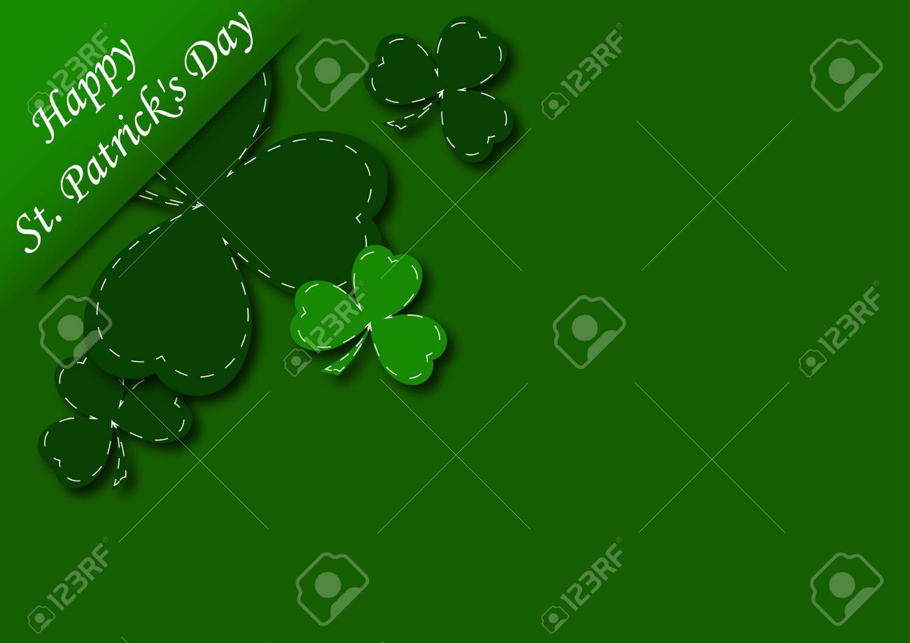 congratulatory background with shamrock vector illustration Stock Vector - 12182648