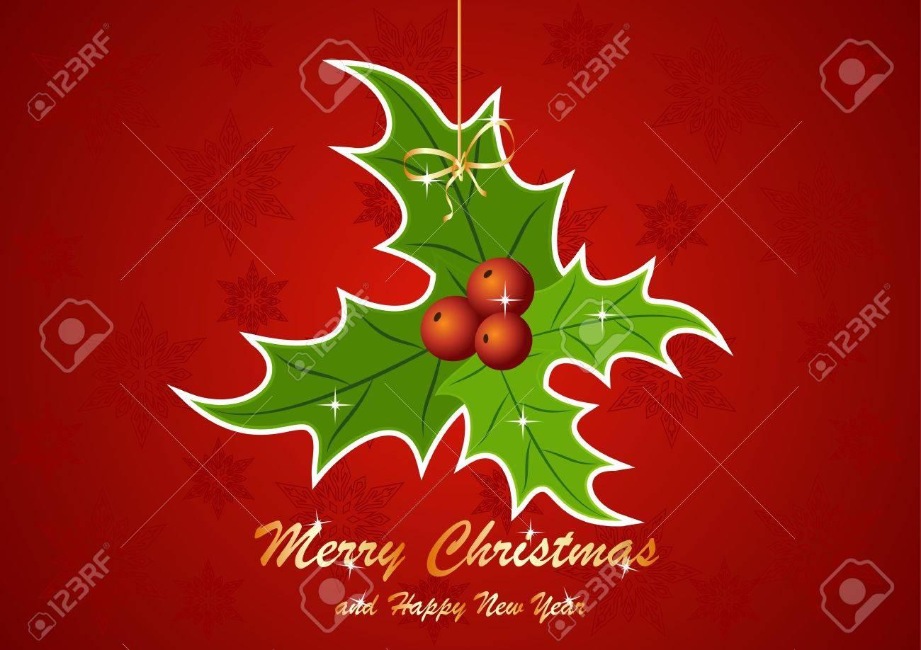 foto de archivo tarjeta de felicitacin para navidad y ao nuevo
