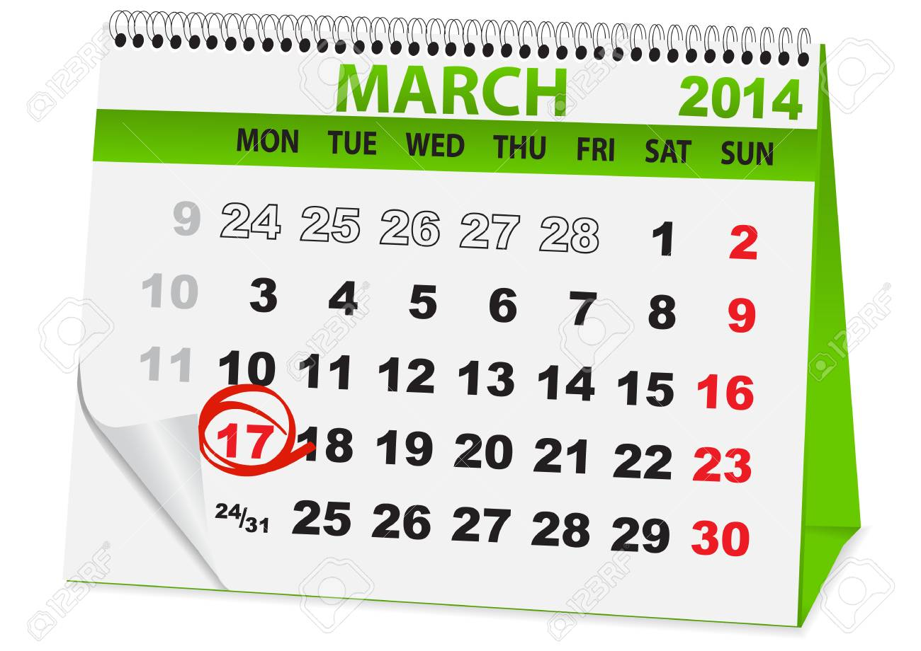 icon in the form of a calendar for  St Patrick's Day Stock Vector - 26058635