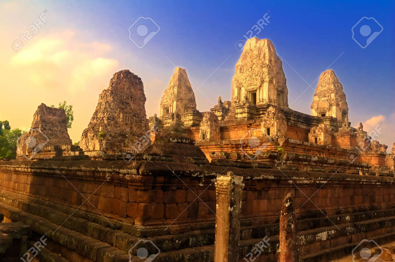 Preah Rup temple in province Siem Reap, Cambodia Stock Photo - 2847012