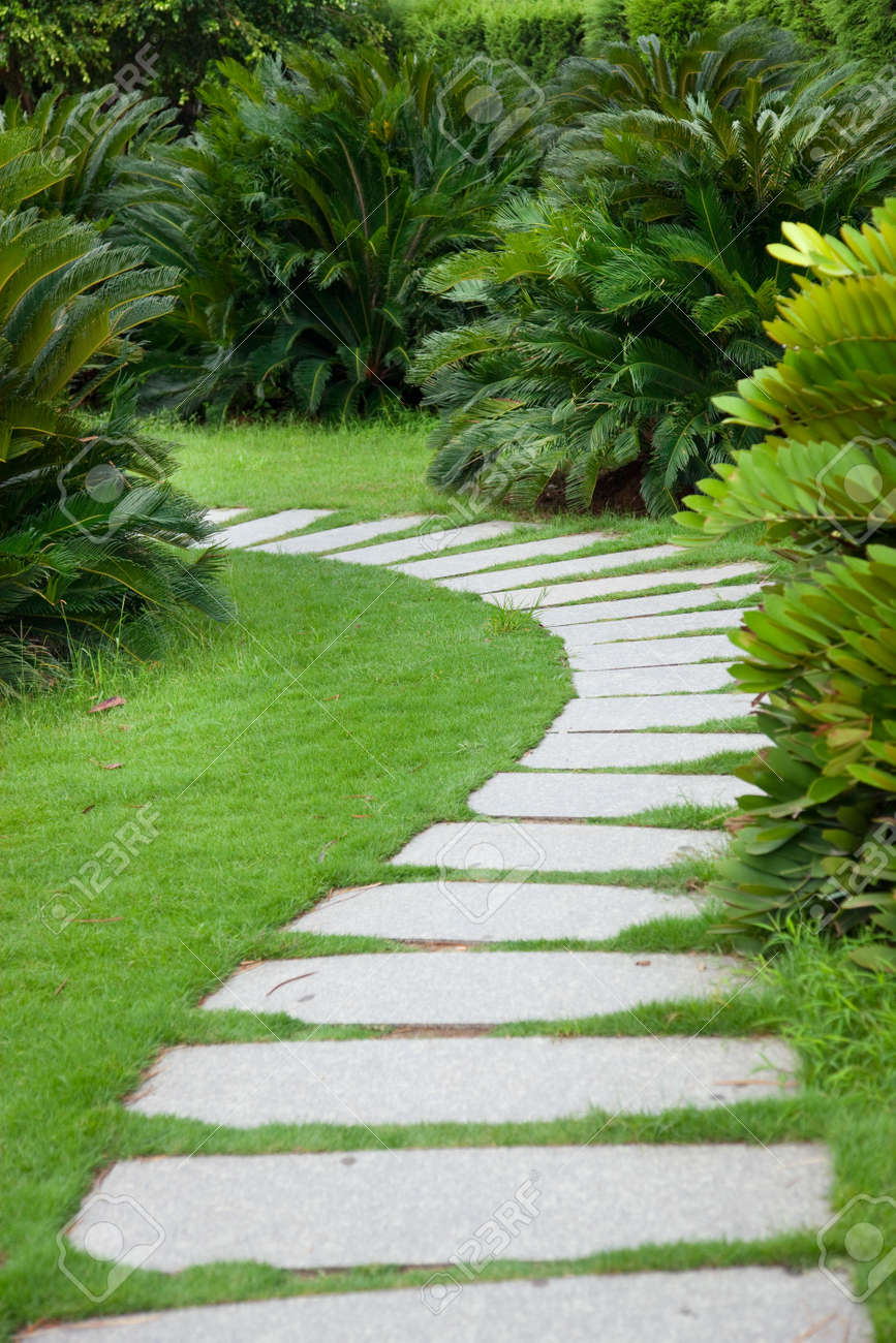 Stone Path Stock Photos & Pictures. Royalty Free Stone Path Images ...