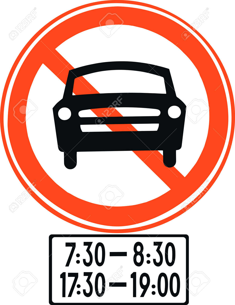 Time limit traffic sign Stock Vector - 9130374