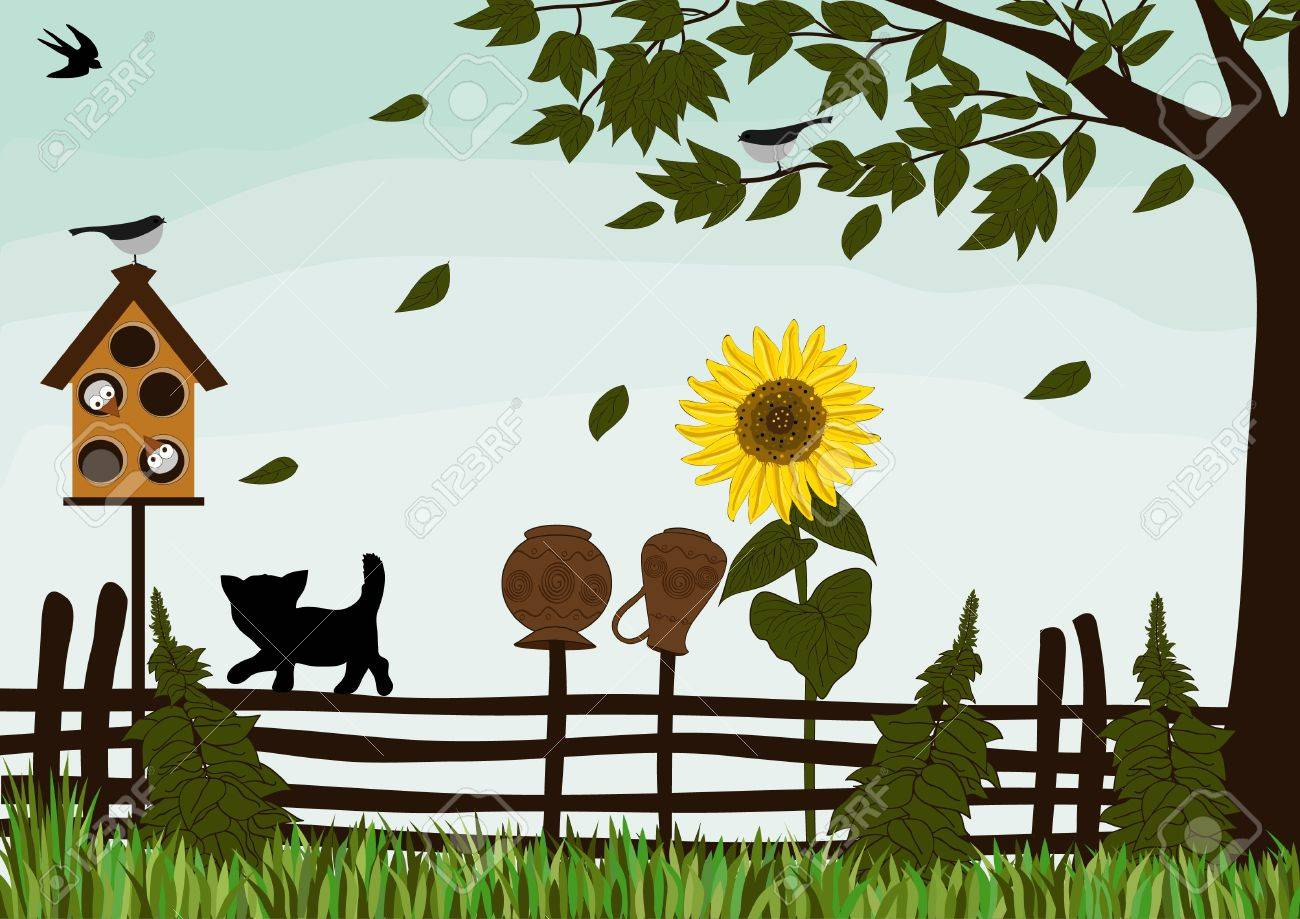 Garden fence Stock Vector - 15775295