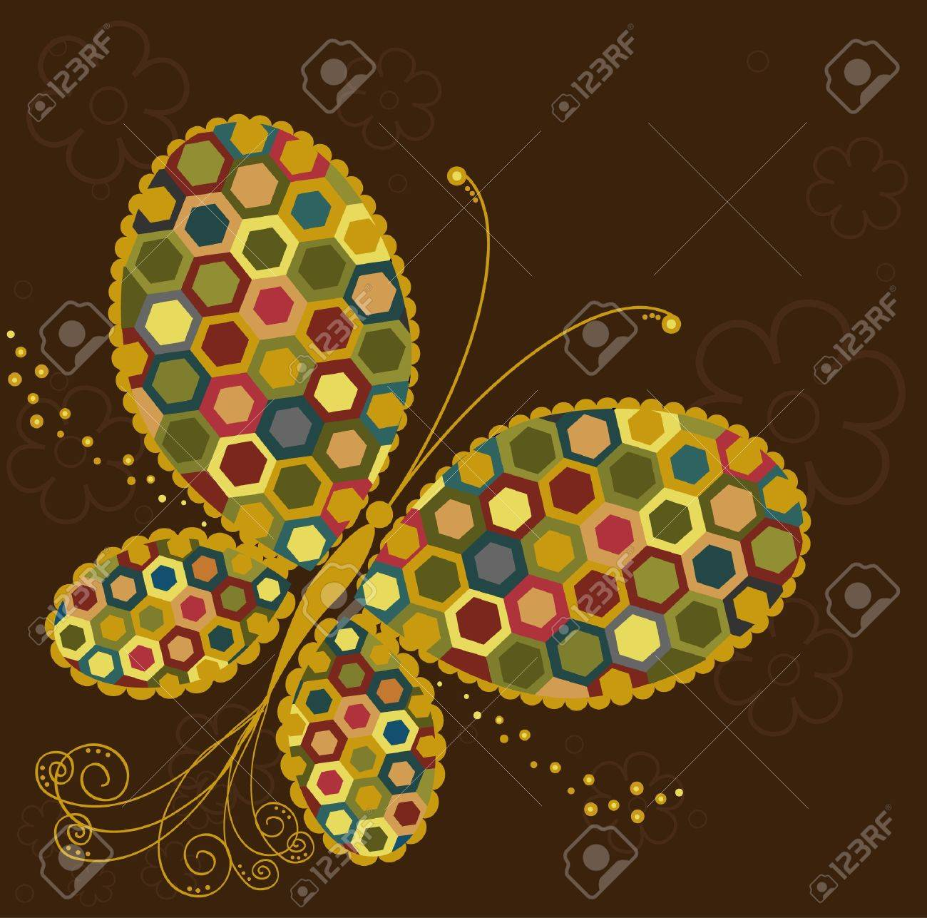 Abstract colorful butterfly Stock Vector - 16613756