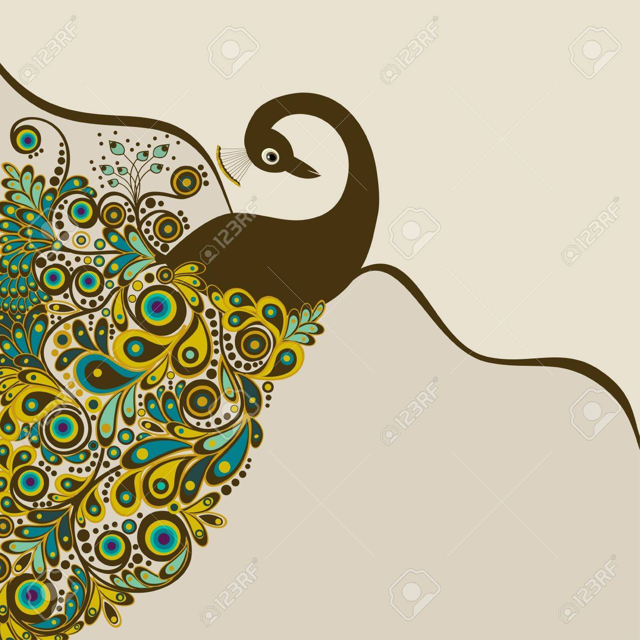 peacock card royalty free cliparts vectors and stock illustration