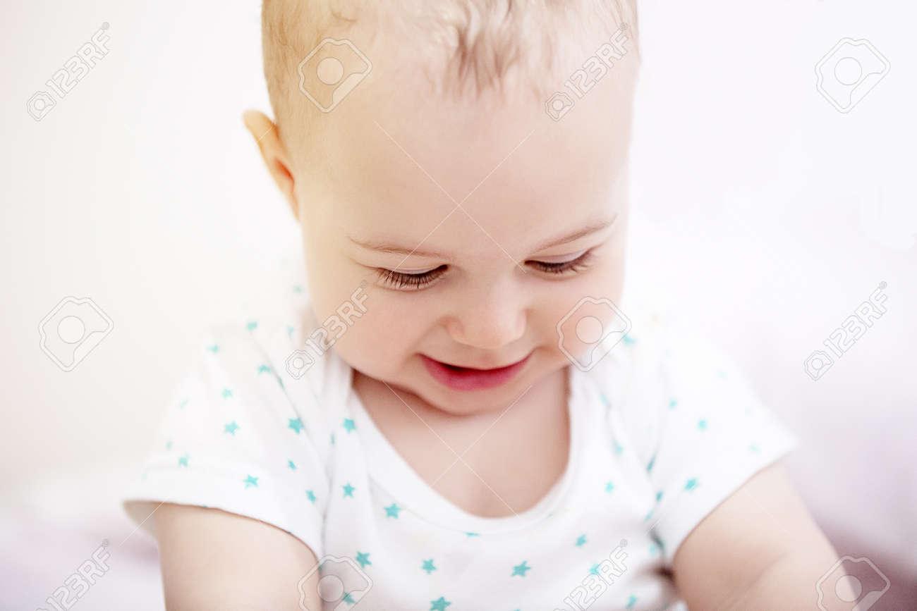 portrait of a funny baby boy. Archivio Fotografico - 96119438