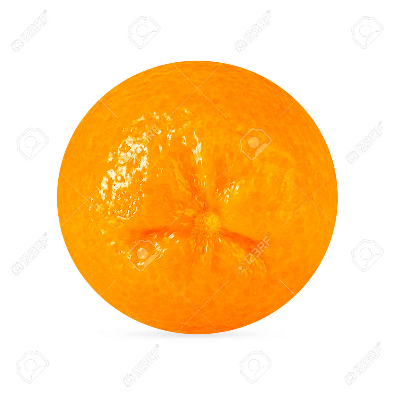 One perfect retouching tangerine fruit with shadow isolated on white - 166914793