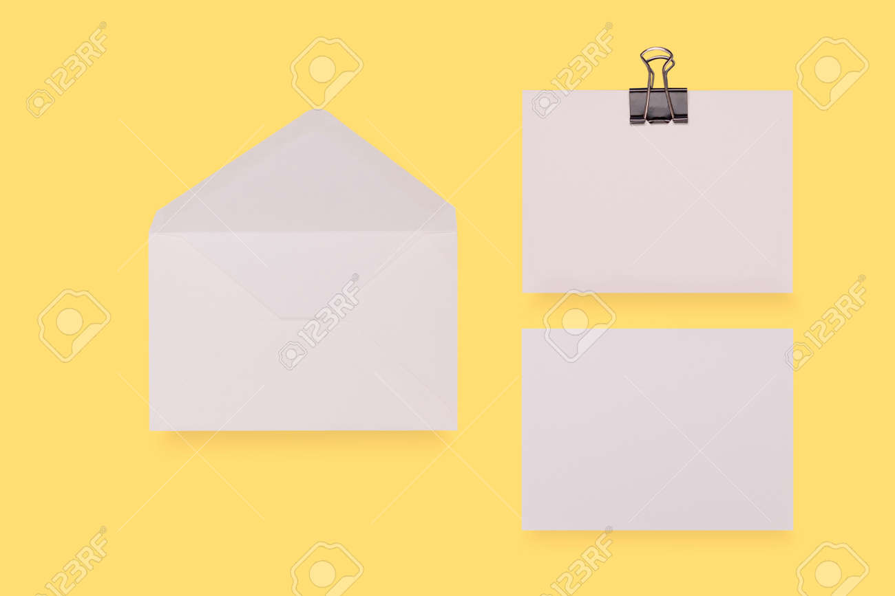 Blank card and envelope over creative colored background - 165777773