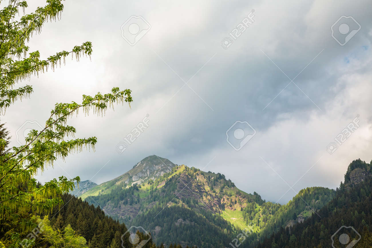 Beautyfull landscape in Alps montains in Italy - 166782754