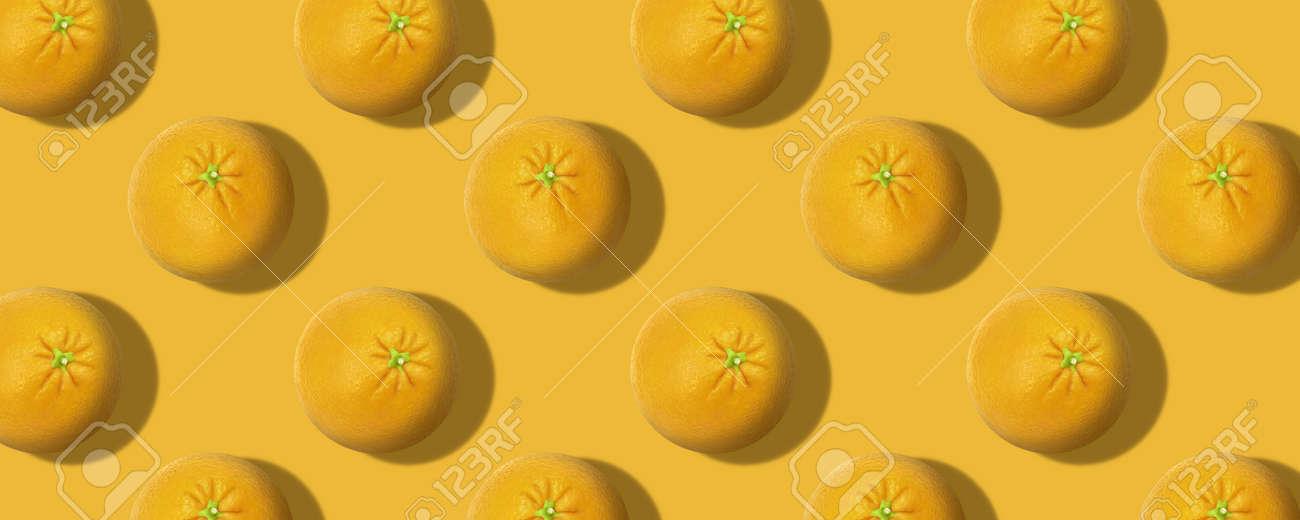 Whole fresh orange fruit pattern color background - 167779794
