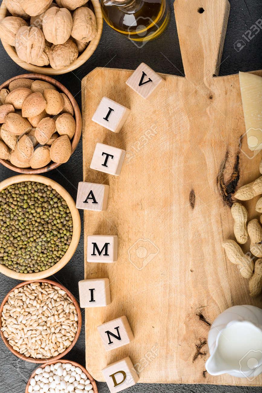 Different foods ingredients rich in vitamin D - 167194005