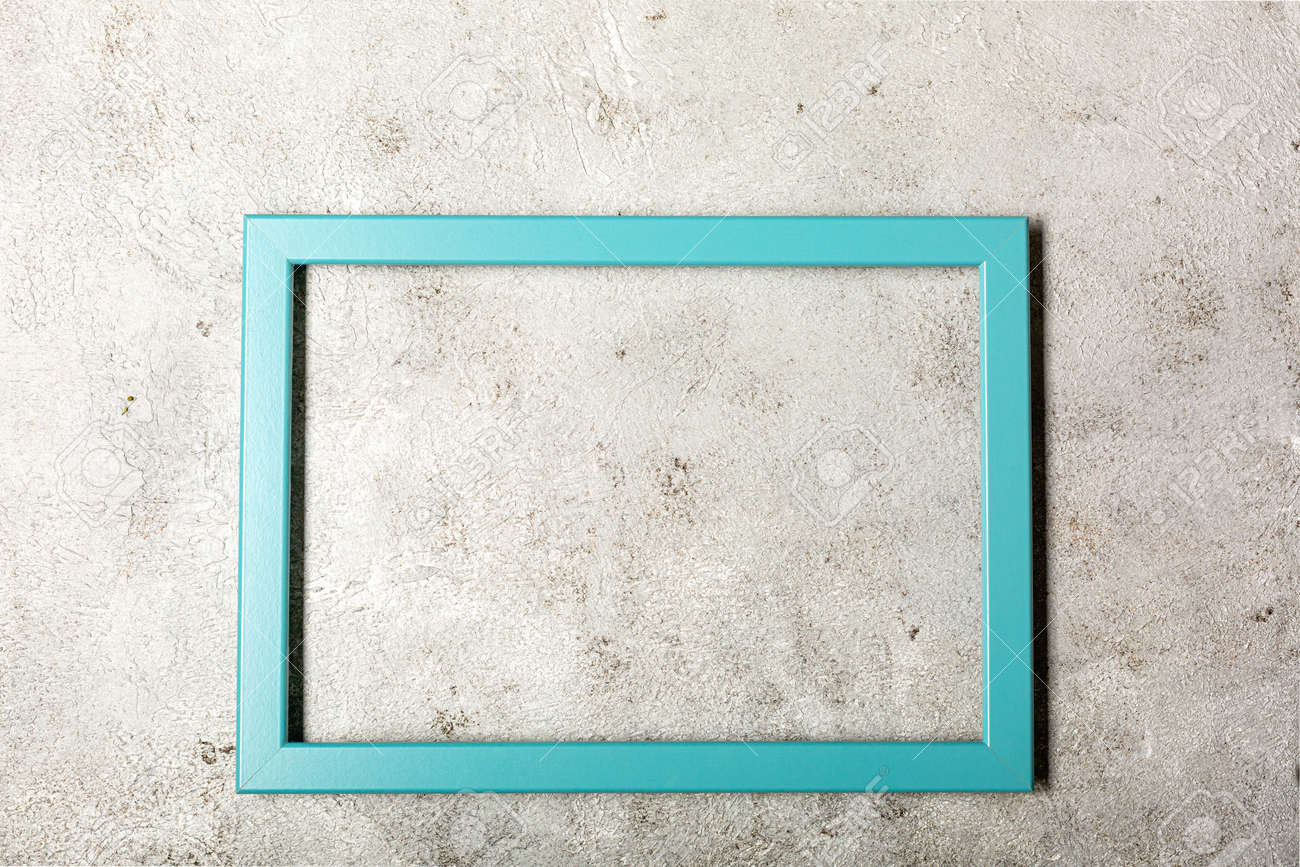 Picture frame design with shadow on gray background - 167779814