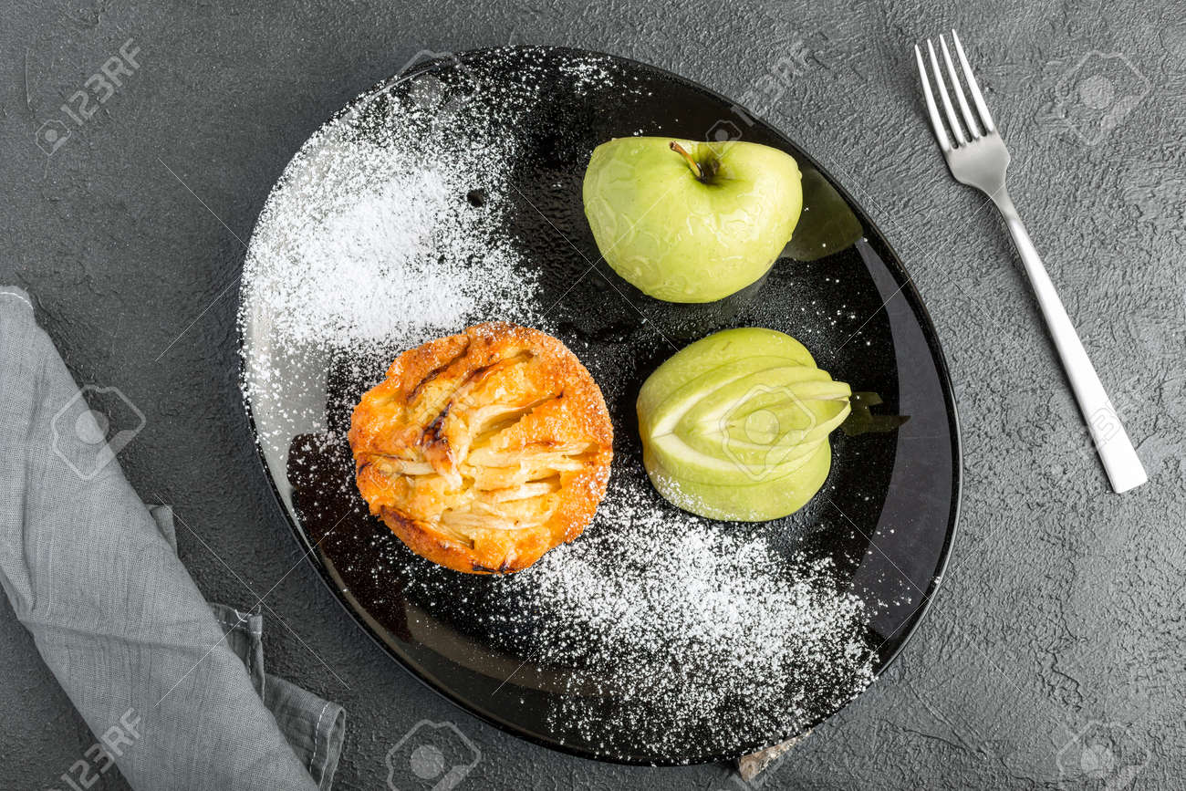 Apple pie with pears on the top - 167779817
