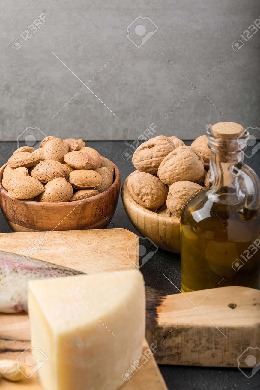 Different foods ingredients rich in vitamin D - 167779820