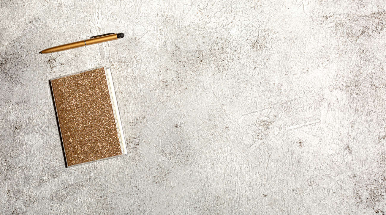 Mockup with notebook isolated on concrete background - 167779828