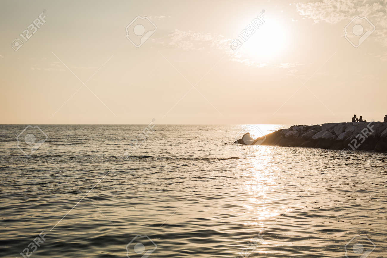 background of landscape of sunset over the sea - 167779993