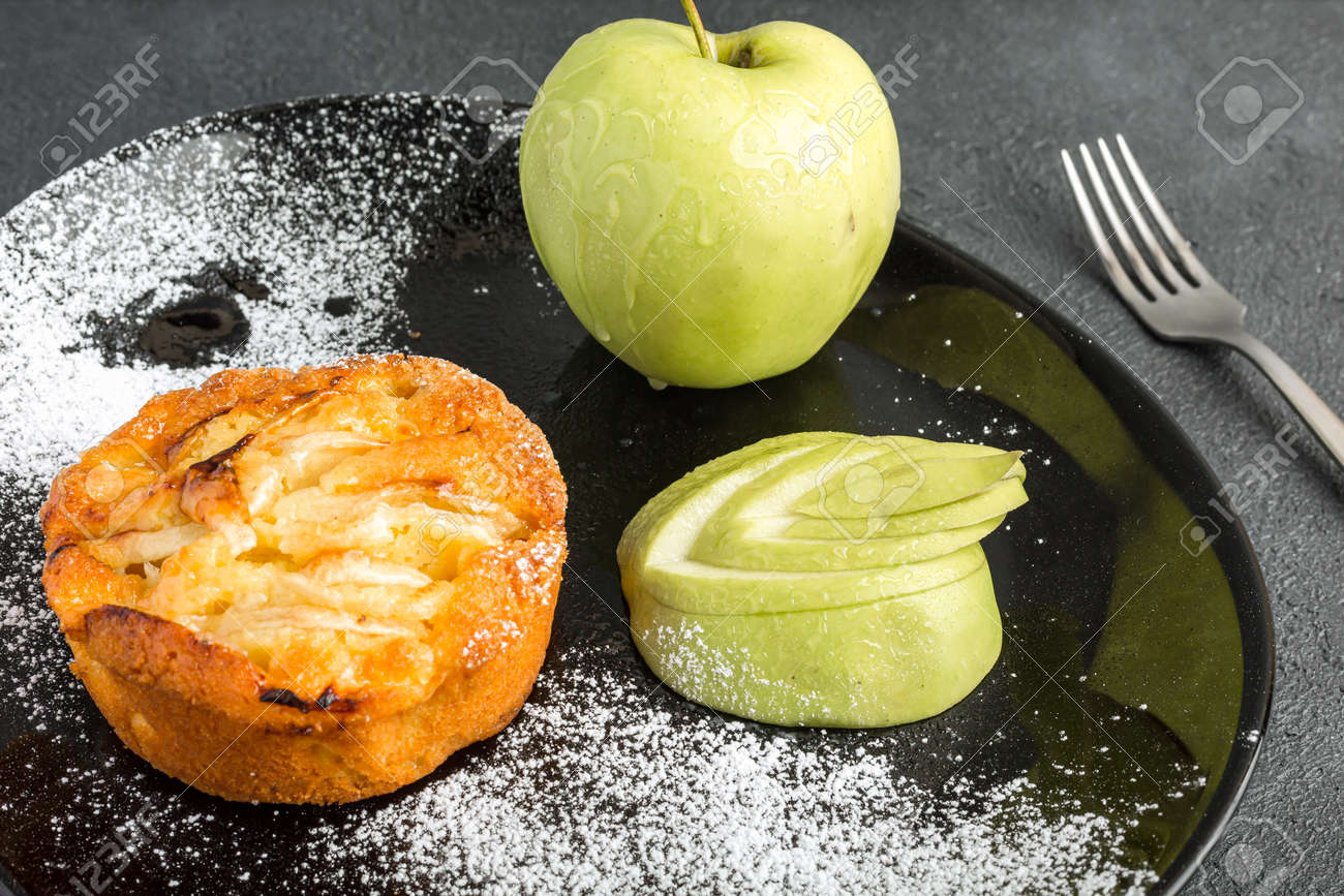 Apple pie with pears on the top - 167780023