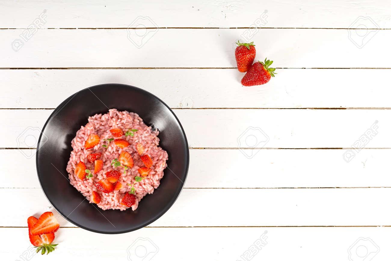 Fresh strawberry risotto a delicate and elegant dish - 171640400