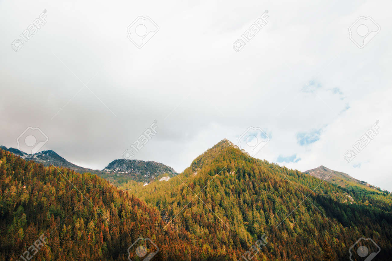 natural landscape with green mountain peaks in summer - 172906040