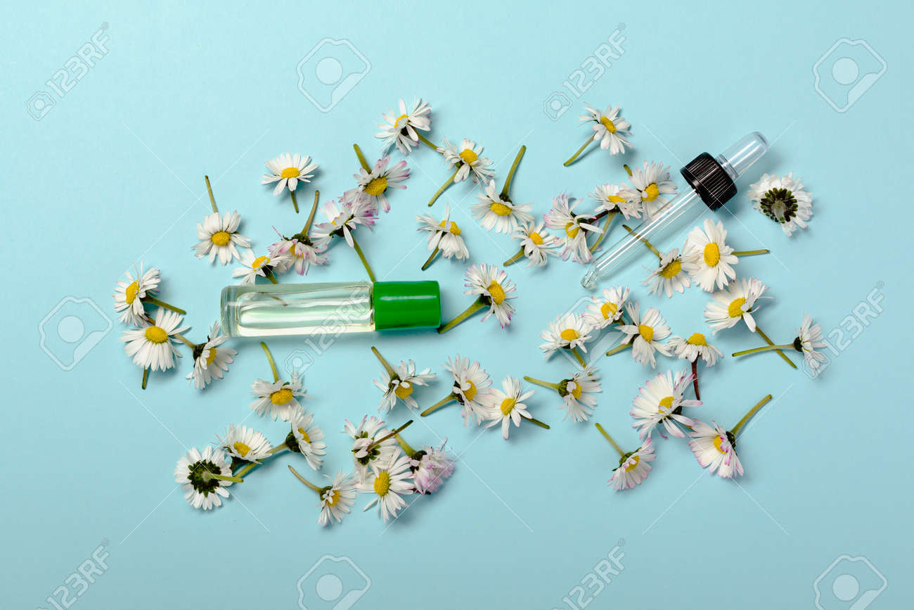 Natural reducing waste beauty on pastel blue background - 173252486