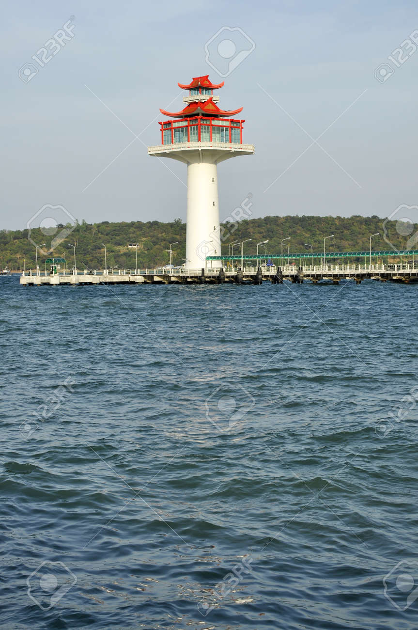 Lighthouse Day Chinese Style New Stock Photo - 17127634