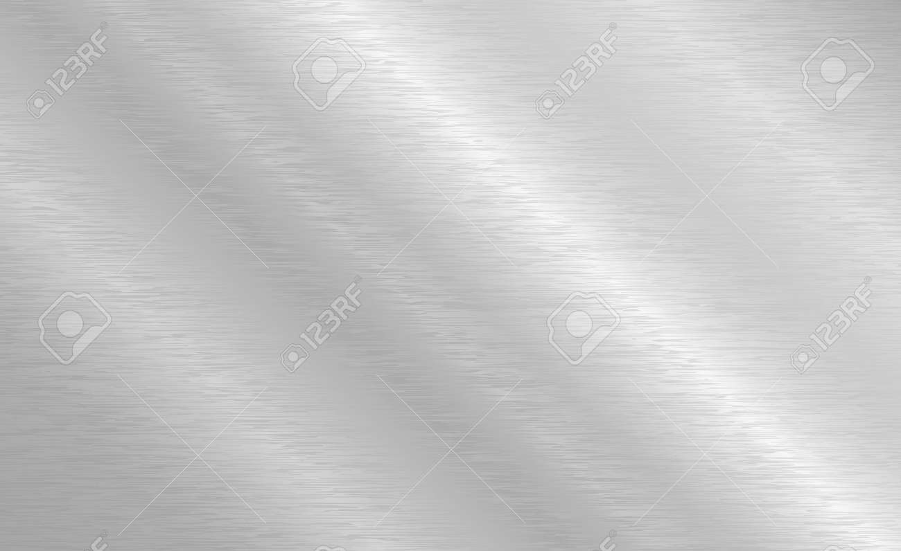 Vector brushed metal texture. Steel background with scratches. - 145203673