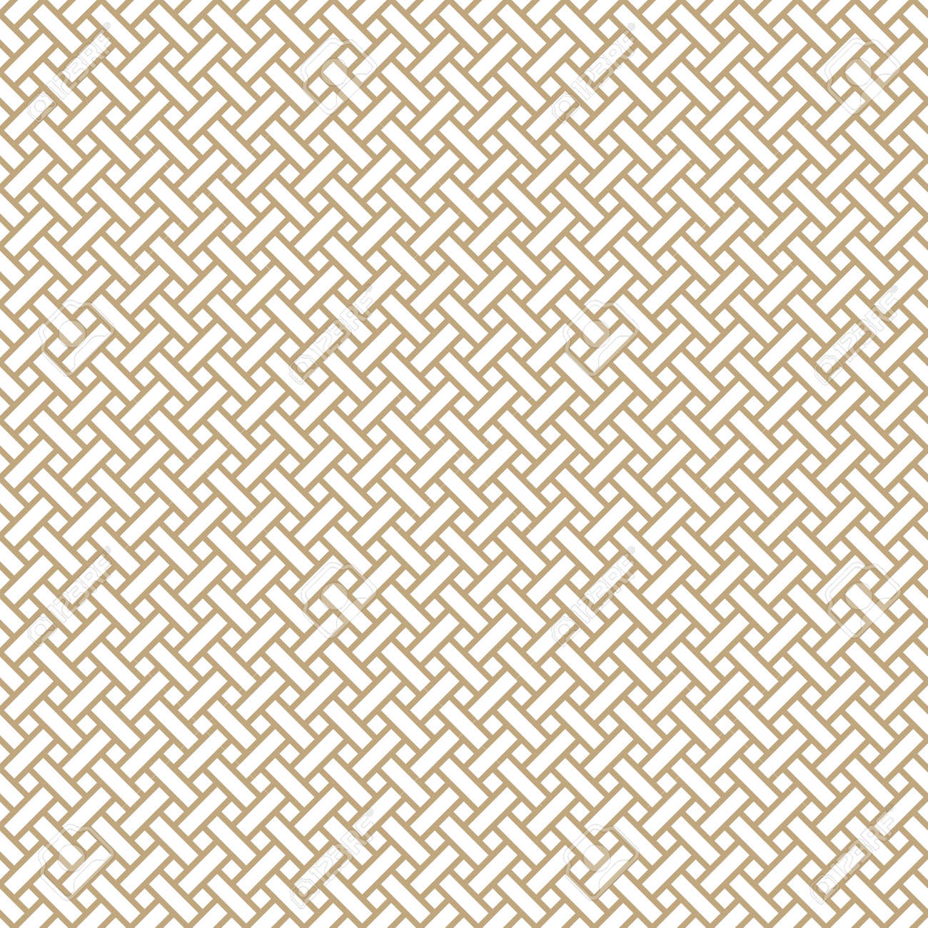 Seamless simple gold geometric pattern. Vector linear modern texture. - 151009445