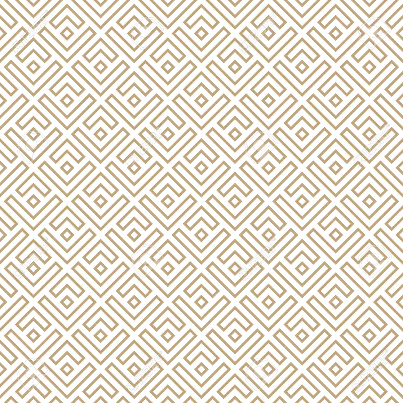 Seamless simple gold geometric pattern. Vector linear modern texture. - 151009461