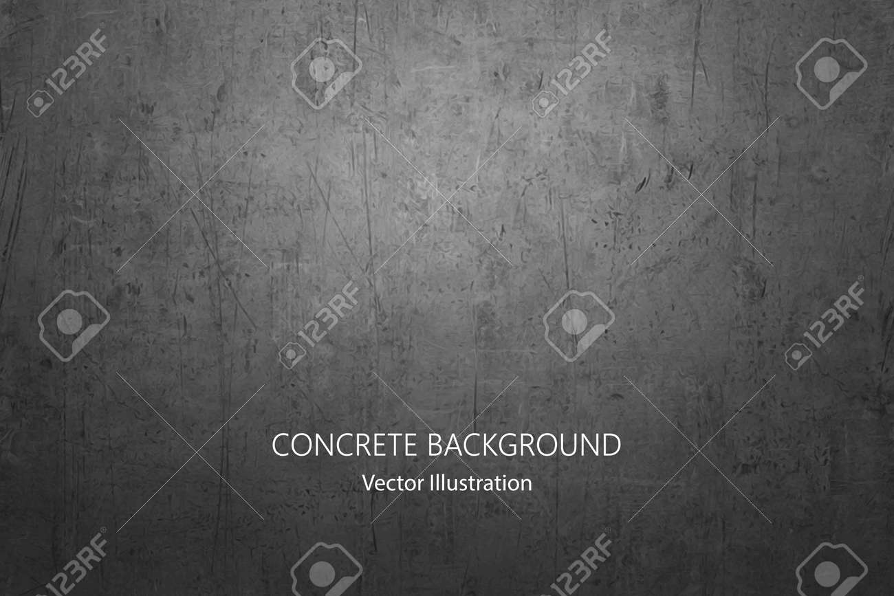 Vector gray concrete texture. Metal background with scratches. - 162325435