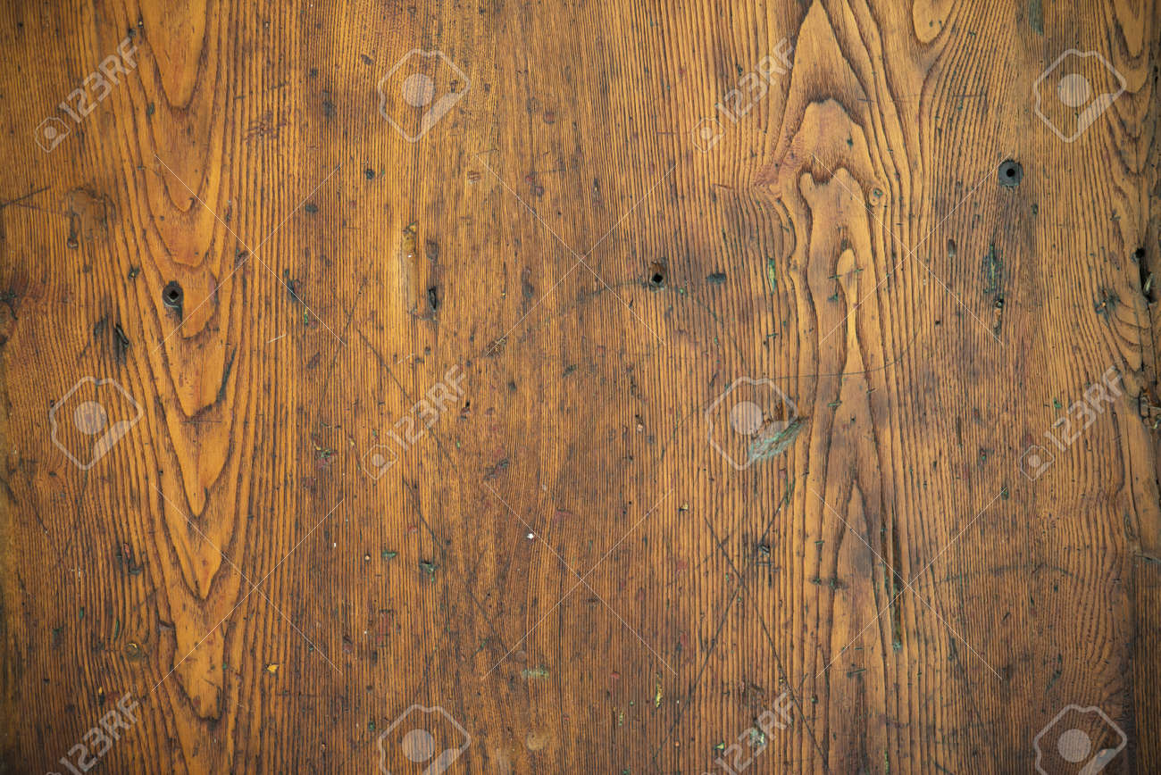 Stock Photo   Wood Texture   Old Scratched Oak Table Top