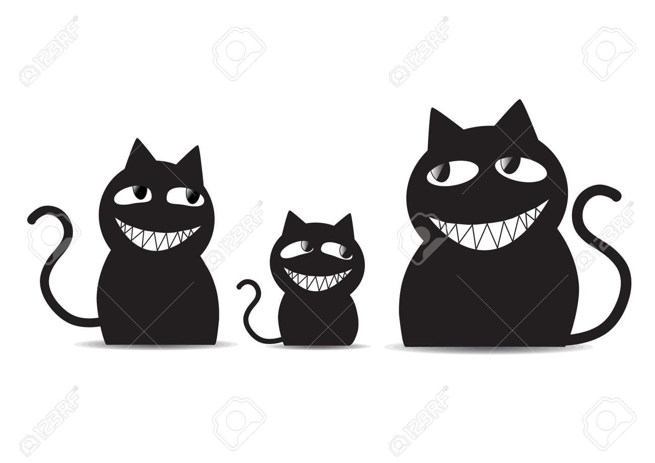 Extrêmement Silhouette De Chat Noir Banque D'Images, Vecteurs Et Illustrations  XA13