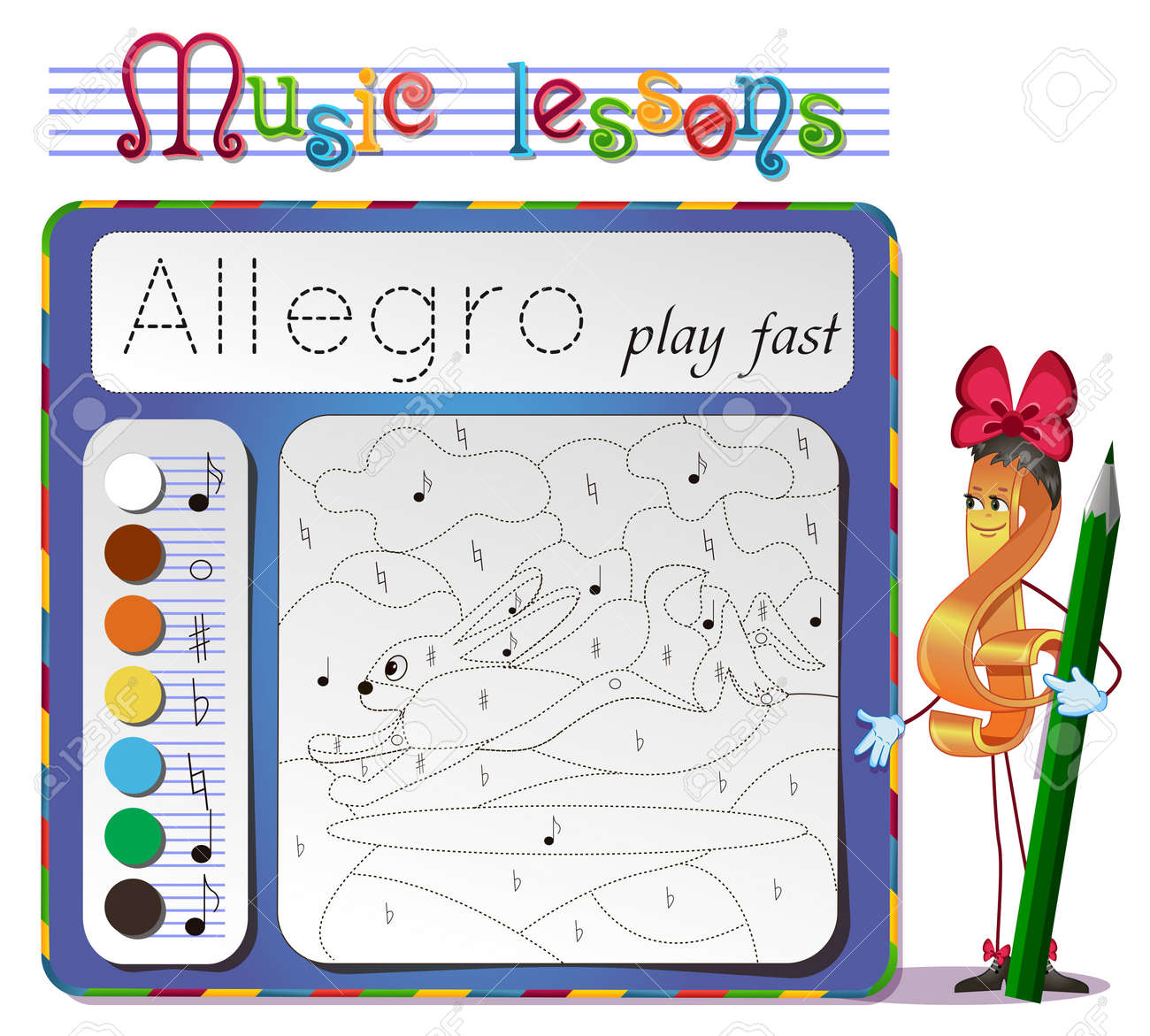 coloring book of music music lessons choose the color of the