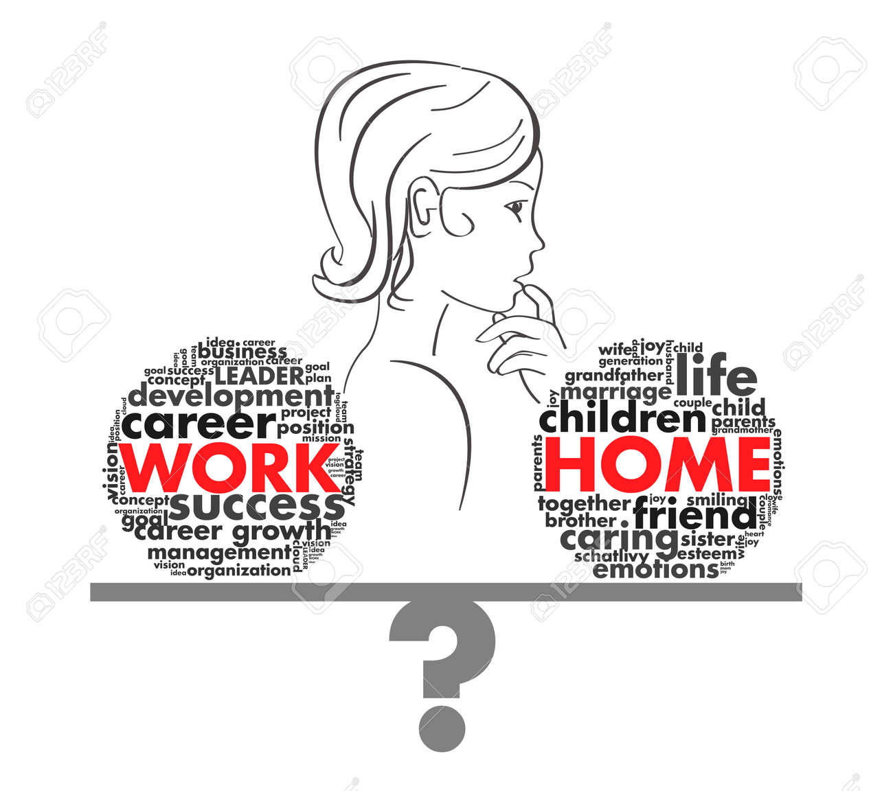 choice of a w in a job or career of letters royalty vector choice of a w in a job or career of letters