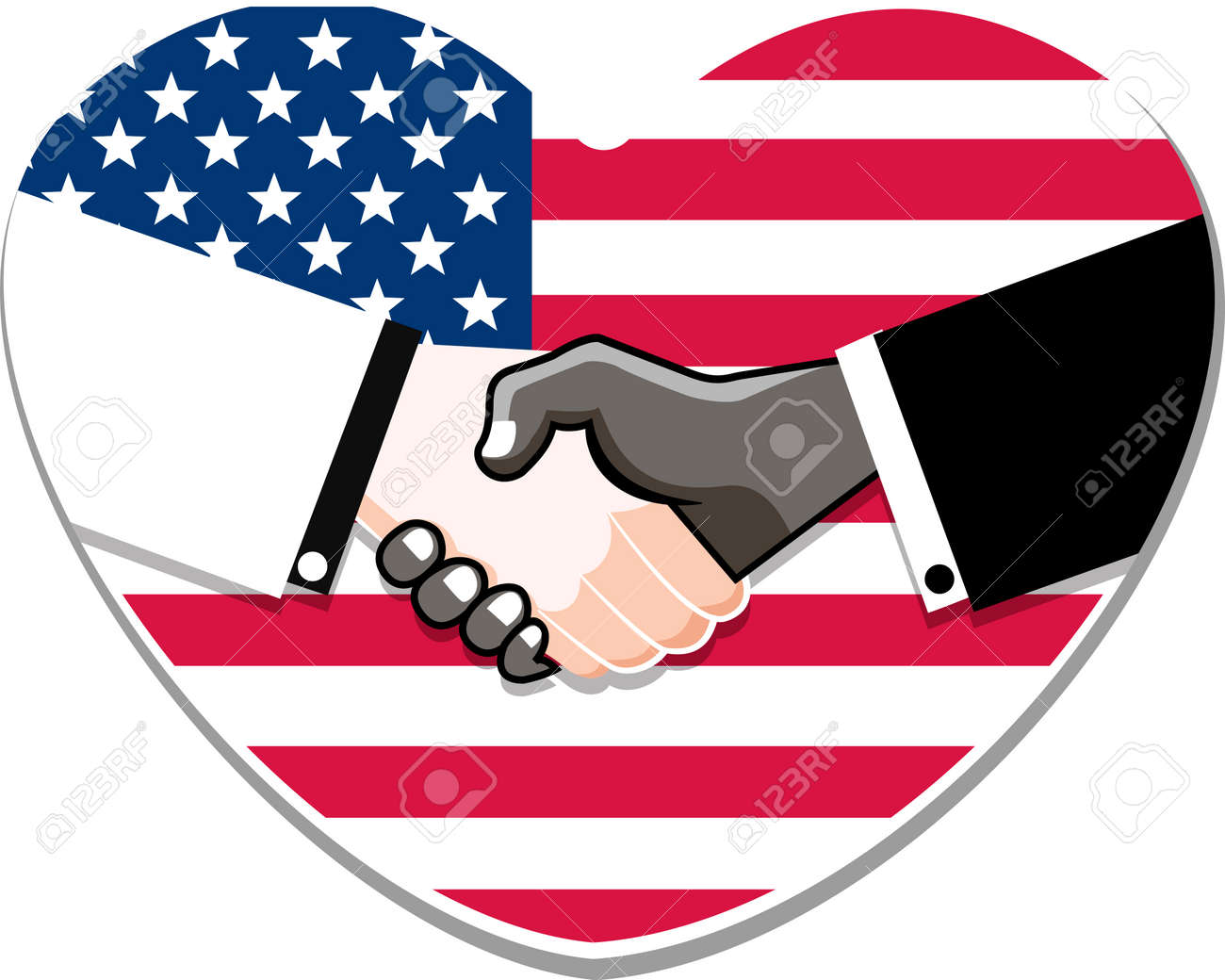 Symbol Handshake In Honor Of Martin Luther King Day Royalty Free