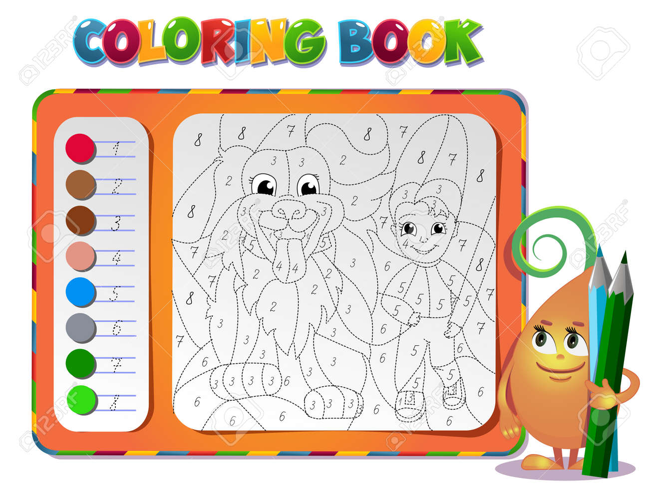 Shoose The Color Of The Figure Coloring Book About Friendship