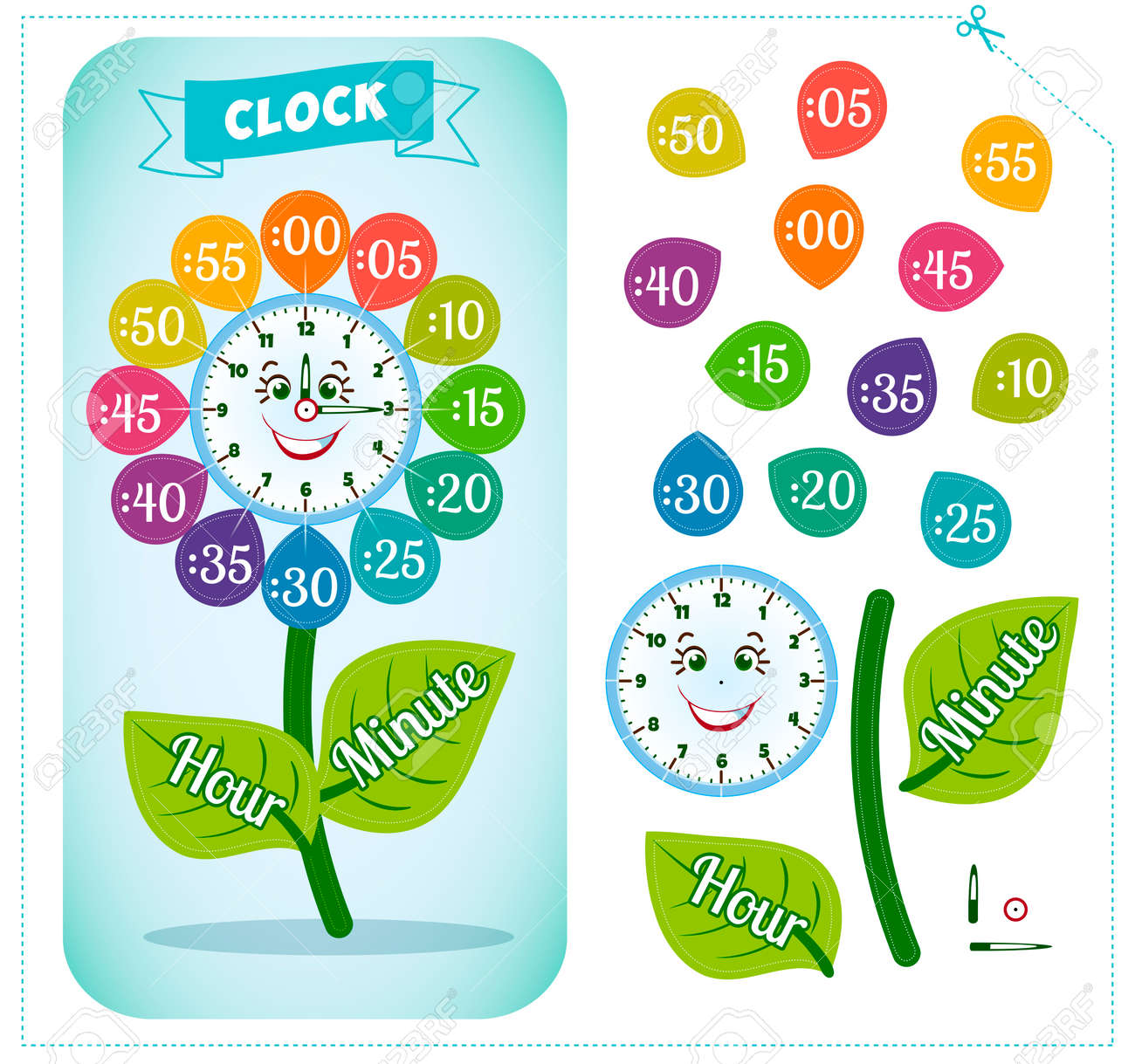Worksheet Telling The Time For Children telling time worksheet for school kids to identify the clock sticker game for
