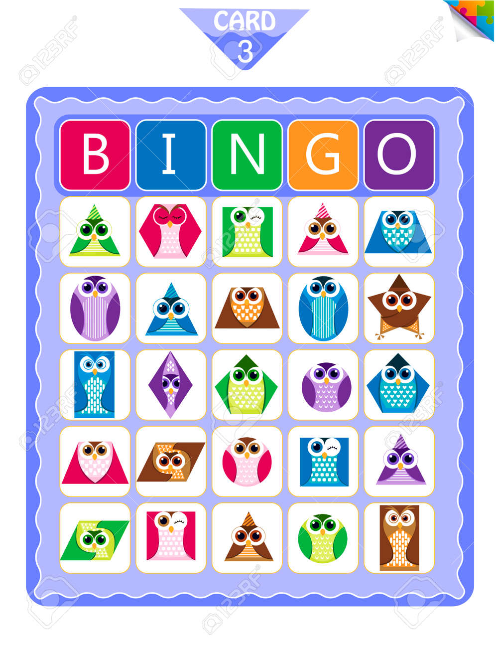 graphic about Musical Bingo Cards Printable called Printable insightful bingo activity for preschool small children with designs..