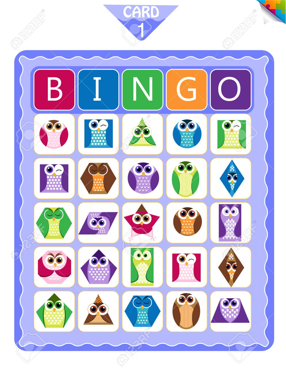 photograph about Printable Bingo Cards for Kids known as Printable insightful bingo sport for preschool little ones with designs..