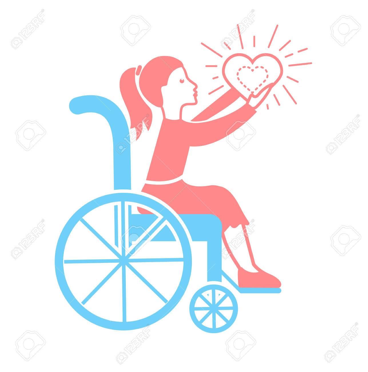 障害者のアイコン。休日 - 国際障害者デーです。直線的なスタイルの ...