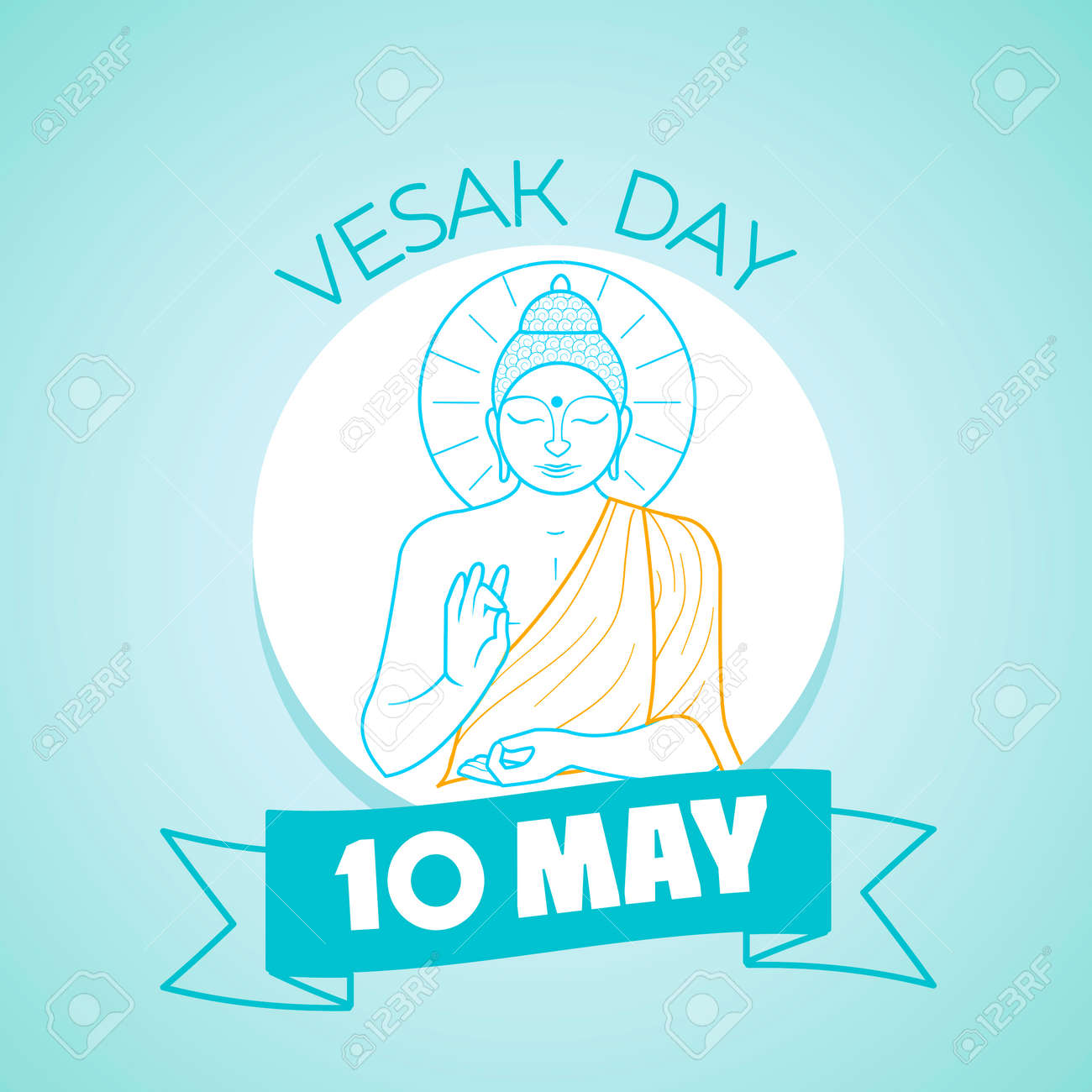 Calendar For Each Day On May 10 Greeting Card Holiday Vesak