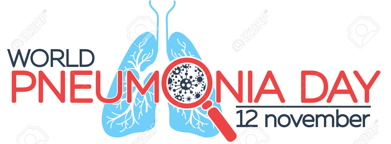 Banner About Pneumonia In The Form Of Anatomy Of The Lungs And ...