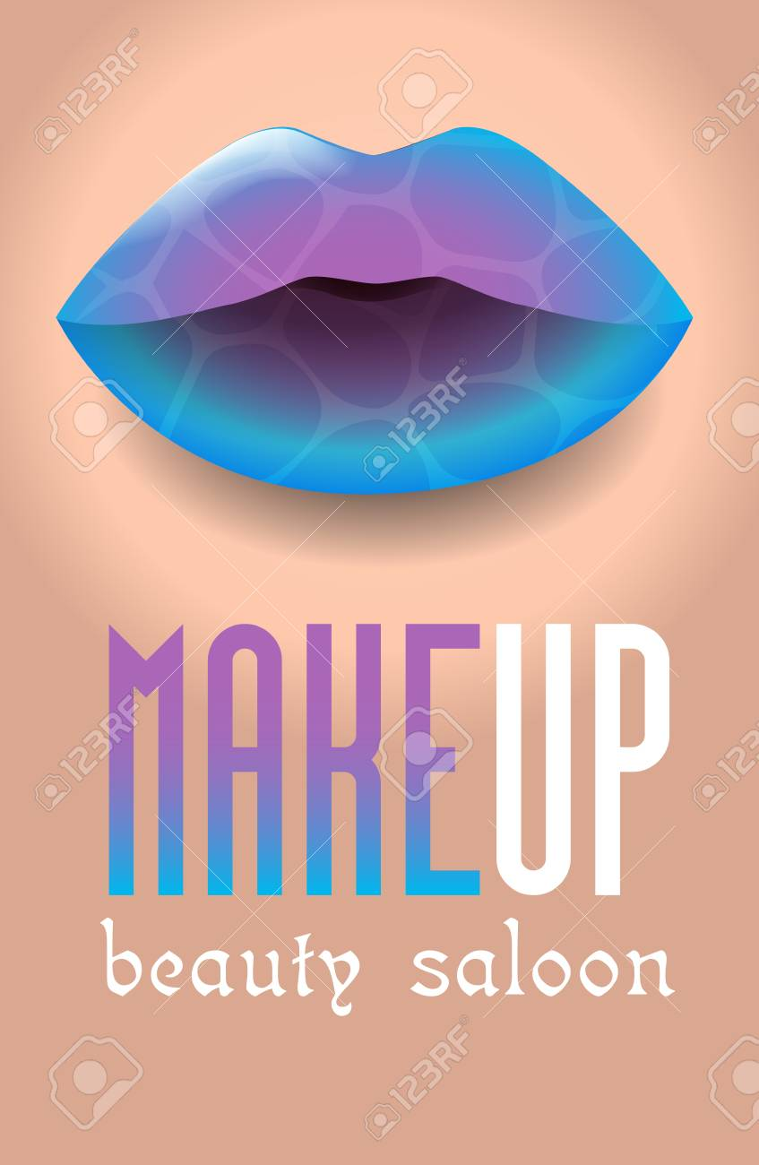 Banner For A Beauty Salon In The Form Of A Makeup Colorful Women S Royalty Free Cliparts Vectors And Stock Illustration Image 95612030