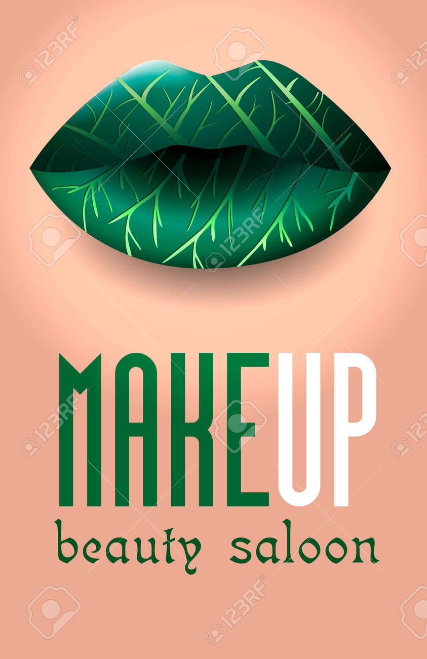 Banner For A Beauty Salon In The Form Of A Makeup Colorful Women S Royalty Free Cliparts Vectors And Stock Illustration Image 95612031